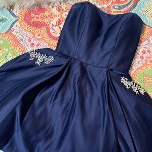 Short Navy Formal Dress